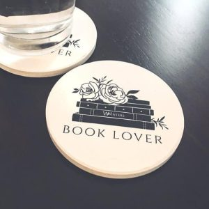 Book Lover Stone Coaster