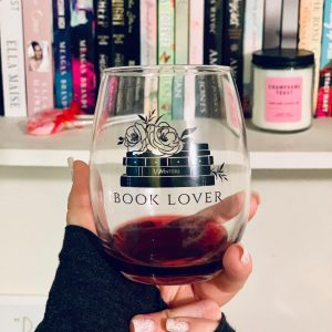 Book Lover Stemless Wine Glass