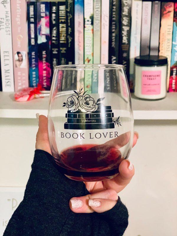 Book Lover Stemless Wine Glass