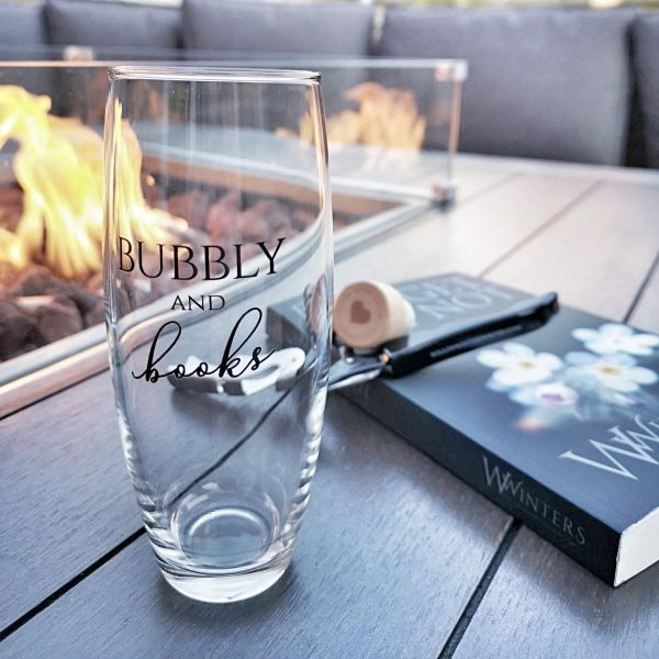 Bubbly and Books Champagne Glass