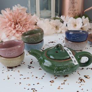 Cracked Glass Traditional Tea Set