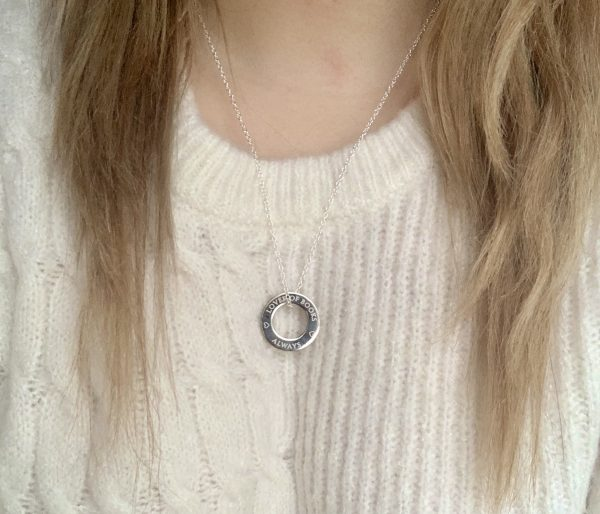 Lover of Books Silver Necklace