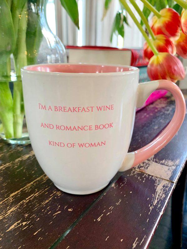 Breakfast Wine & Romance Book Bistro Mug